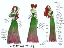 Poison Ivy Bridesmaid Dress by hiddenjester