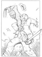 Freddy vs Jason Pencils by TPollockJR