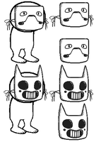 Base ~ Zacharie's masks by Lucayxy