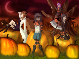 Pumpkin Patch by AliRose-Art