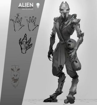 Alien concept-fullbody, 2014 personal concept by Daviddleonluis