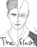 Barry Allen/The Flash - Uncolored by Dracy1996