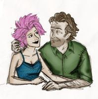 Remus and Tonks COLORED by DDLL