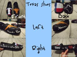 Texas-Themed Shoes by Serene22