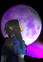 Under the full moon by Biscuitmonstergirl1
