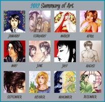Shisleya 2012 Summary of Art by shisleya