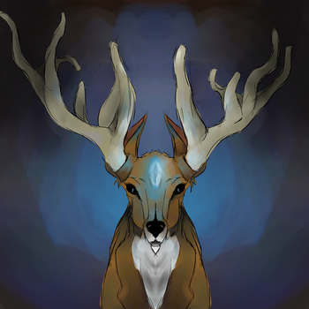 Blue Deer by EsEnNodormir