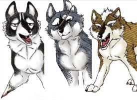 GNG wolves by Gingastar18