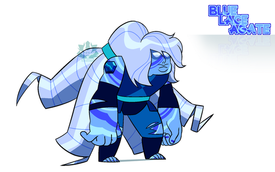[C] - Blue striped Agate Custom by FloofHips