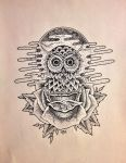 STIPPLE OWL by SedatedArtworks