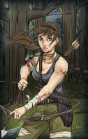 Battle artist (Tomb Raider) by Dericules