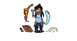 silly korra doodle by kaniphish