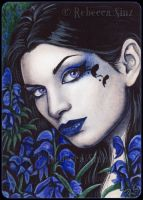 ACEO -- Aconitum by ElvenstarArt