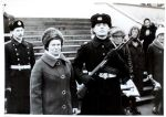 Proud soviet soldier and his mom - vintage photo by unionvintage