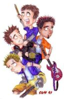 Sum 41 Drawing by Elboydo