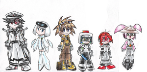 .:Human WALL-E Characters:. by kittyXartist
