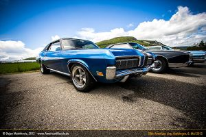 blue mercury cougar by AmericanMuscle