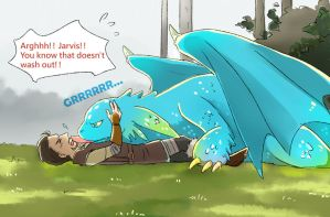 Dragon!Jarvis by KD666