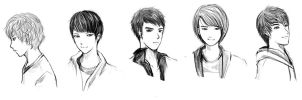 Shinee practice sketch1 by KnotBerry