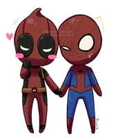 Spideypool Day by AT-Studio
