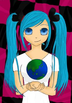 1st Digital Art- Hatsune Miku by BunniesForever