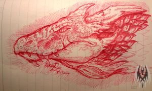 Dragon Head Sketch 3 by DragonGirl787