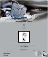 Journal skin - Grey butterfly by ShiStock