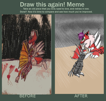 Gigan and w-girl draw this again by wolfwrathgirl