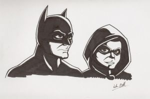 Batman and Robin by Mustashio