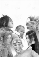 FFVII - All for one... WIP 3 by Cataclysm-X