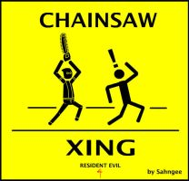 Chainsaw Crossing by Sahngee