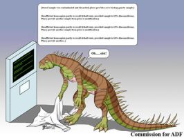 COM : Woman Dinosaur by whiteguardian