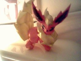 Flareon Papercraft by PrincessStacie