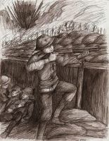 WWI Trench warfare by FerioWind