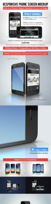 Responsive Phone Screen Mockup by Dee-A