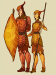 Leafmen autumn armor design by TheFandomWhore