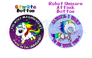 Starlite_RobotUnicorn_Buttons by wanabiEPICdesigns