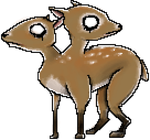 Two Headed Deer by xmacabremonsterx