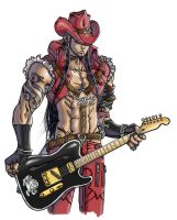 guitarist character design by tianyi
