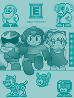 Tegaki - Rockman Homage by PuffyTrousers