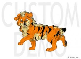 058 Growlithe by BloodMoonRising666