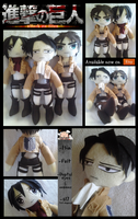 Attack on Titan Plushies For Sale by Mannequin--Massacre