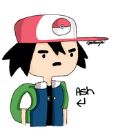 Ash Ketchum Adventure time Style by sassystar92