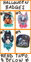 HALLOWEEN.BADGE.PRICES::..+ by Uriko44