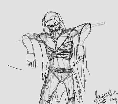 Nightmare Character Concept Rough by joycie24