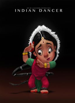 Indian dancer by creaturedesign