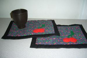 Mug Rugs on Etsy by Dragonomine