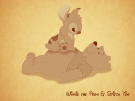 Winnie the Pooh and Stitch, too by WeaponXIX