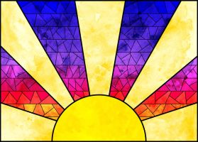 Stained Glass Sunset by Magic92