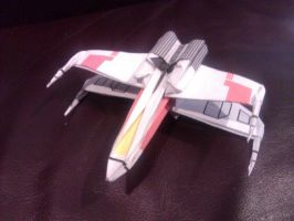 Decaled X-wing by taerkitty
